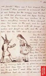 Disegno originale di Lewis Carroll dal manoscritto del libro