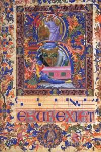"""Risurrezione  miniatura da """"Graduale"""", di anonimo, sec. XV"""