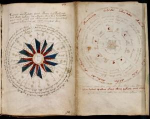 Una pagina interna del manoscritto di Voinych