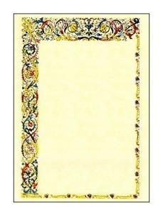 Pergamena con cornice miniata