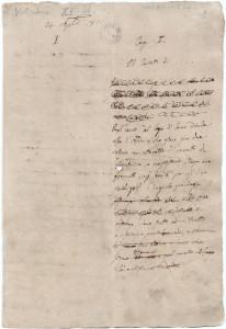 """La prima pagina autografa del """"Fermo e Lucia"""""""