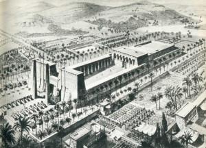 Una antica raffigurazione della mitica biblioteca di Alessandria
