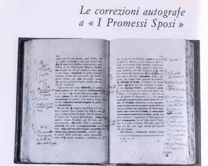 """Correzioni autografe del Manzoni su una copia dei """"Promessi sposi"""""""