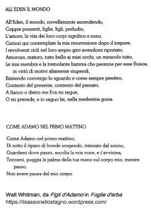 Alcuni passi de Le foglie tradotti in italiano