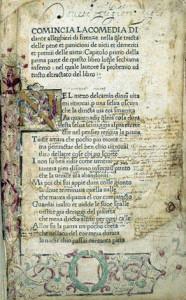 Una pagina interna dell'editio princeps di Foligno