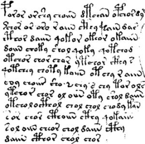 La scrittura sconosciuta del codice