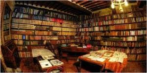 Interno di una libreria antiquaria